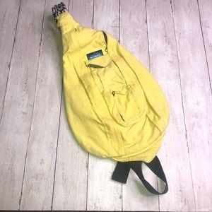 Kavu yellow sling crossbody bag backpack